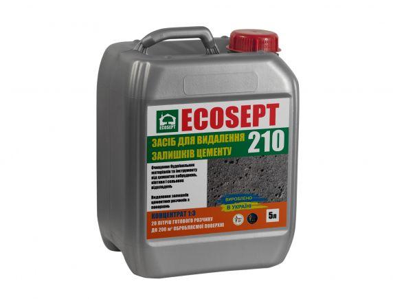 Средство для удаления остатков цемента, бетона ECOSEPT 210