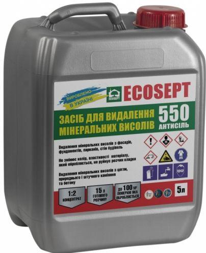 Средство для удаления минеральных высолов ECOSEPT 550