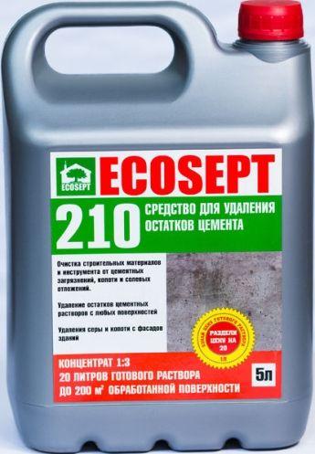 Средство для удаления остатков цемента ECOSEPT 210